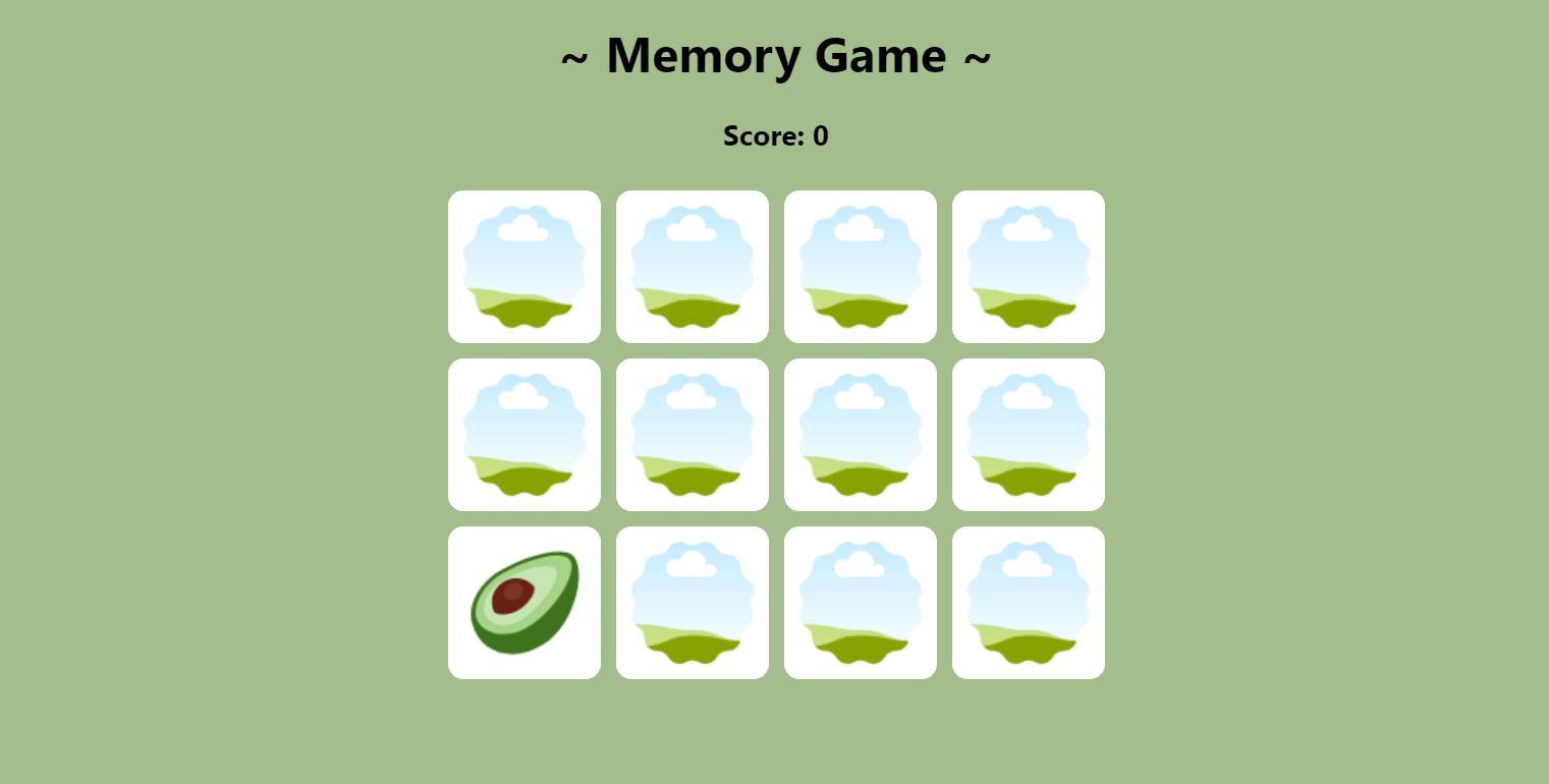 Memory Game demo